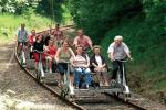Rail trolley fun in the Extertal valley